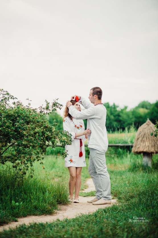 Свадебная фотосессия в украинском стиле, места для романтических фото сессий в Киеве