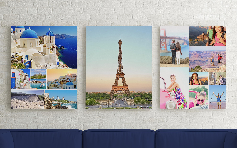 Коллаж из семейных фотографий,коллаж из своих фото, заказать фотоколлаж с печатью на холсте, напечатать фото коллаж из свадебных фото, подарок на годовщину свадьбы, фотоколлаж из свадебных снимков на стену